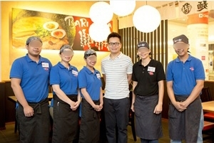 FC Manager of a franchisee in Malaysia (third from the right) who joined the franchise because he